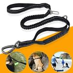 Shock Absorbing Dog Lead With Seat belt Anchor