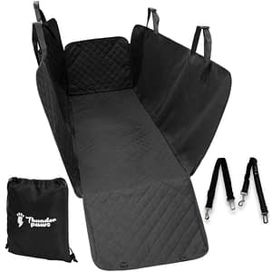 Thunderpaws Premium Pet Car Seat Cover - Waterproof Heavy-Duty Material with Side Flaps