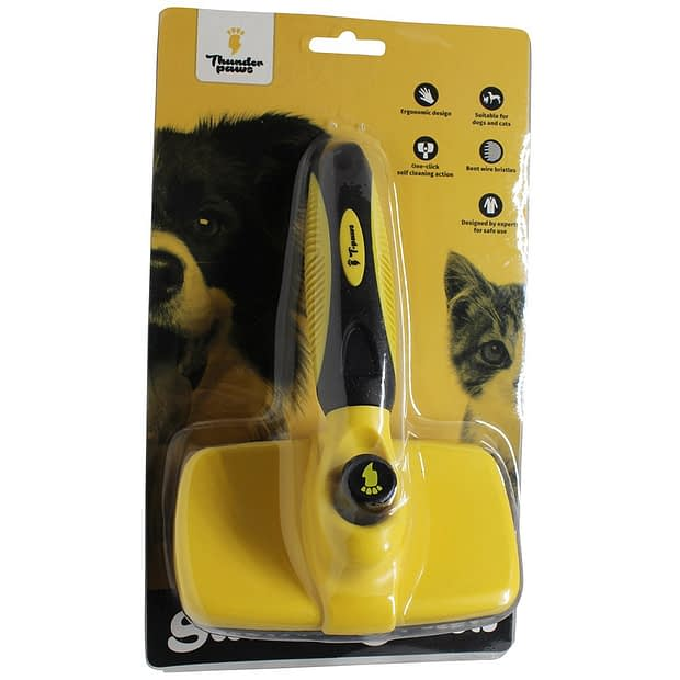 Thunderpaws Self Cleaning Pet Slicker Brush